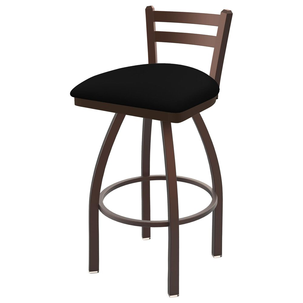 """Holland Bar Stool 411 Jackie 25"""" Low Back Swivel Counter Stool with Bronze and Black Vinyl Seat, , large"""