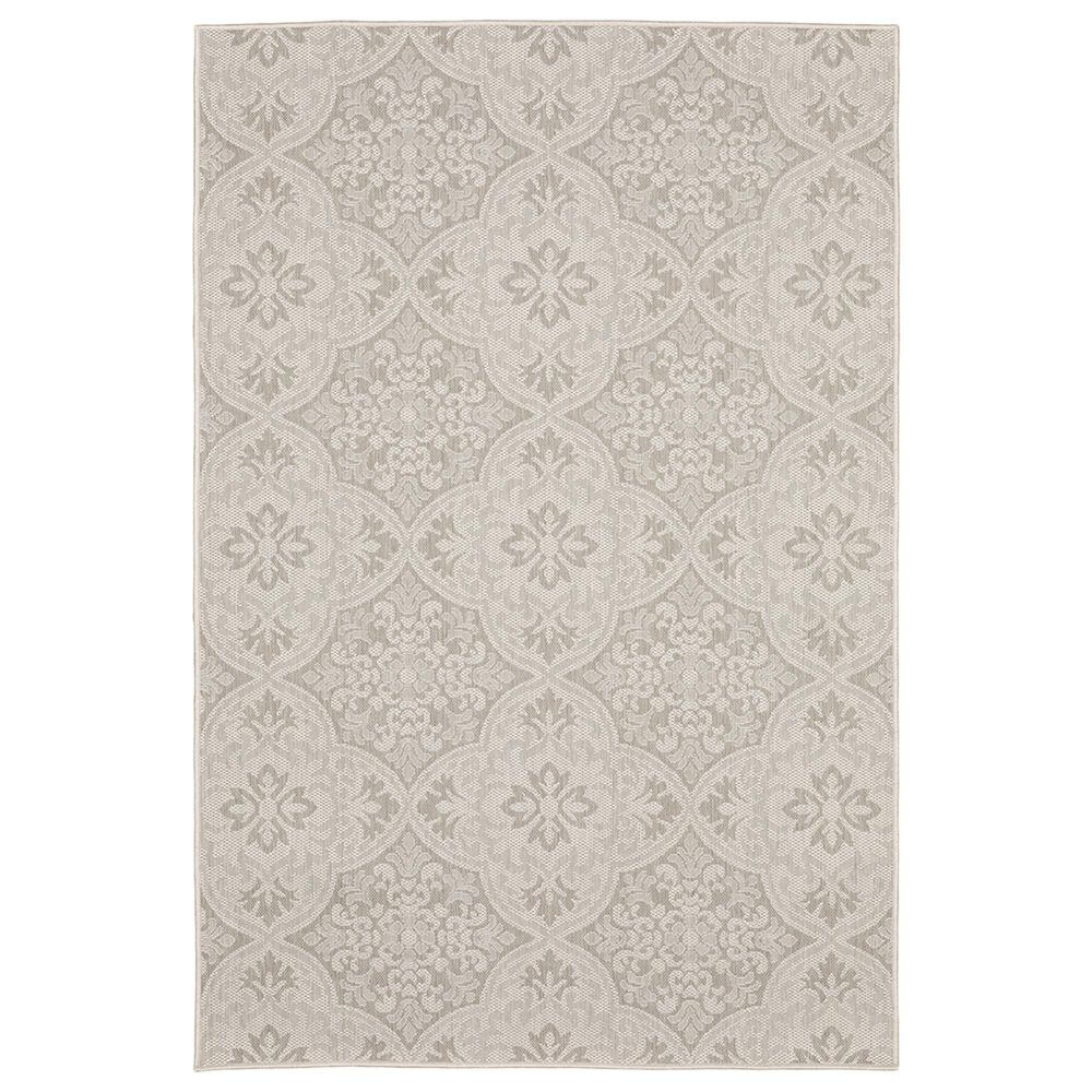 "Oriental Weavers Portofino Outdoor 2805W 6""7"" x 9""2"" Ivory and Gray Area Rug, , large"
