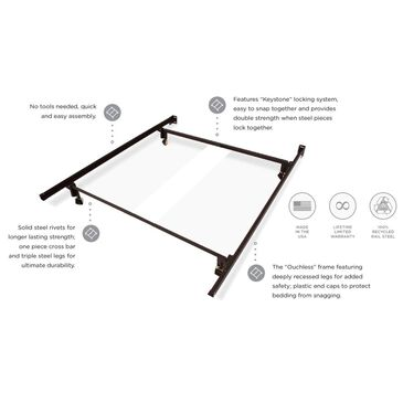 Glideaway Twin Glide-A-Matic Bed Frame, , large