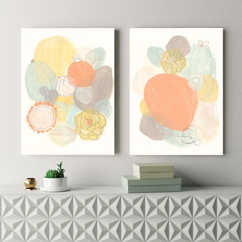 Courtside Market Abstract Succulents I & II 2-Piece Canvas Set, , large