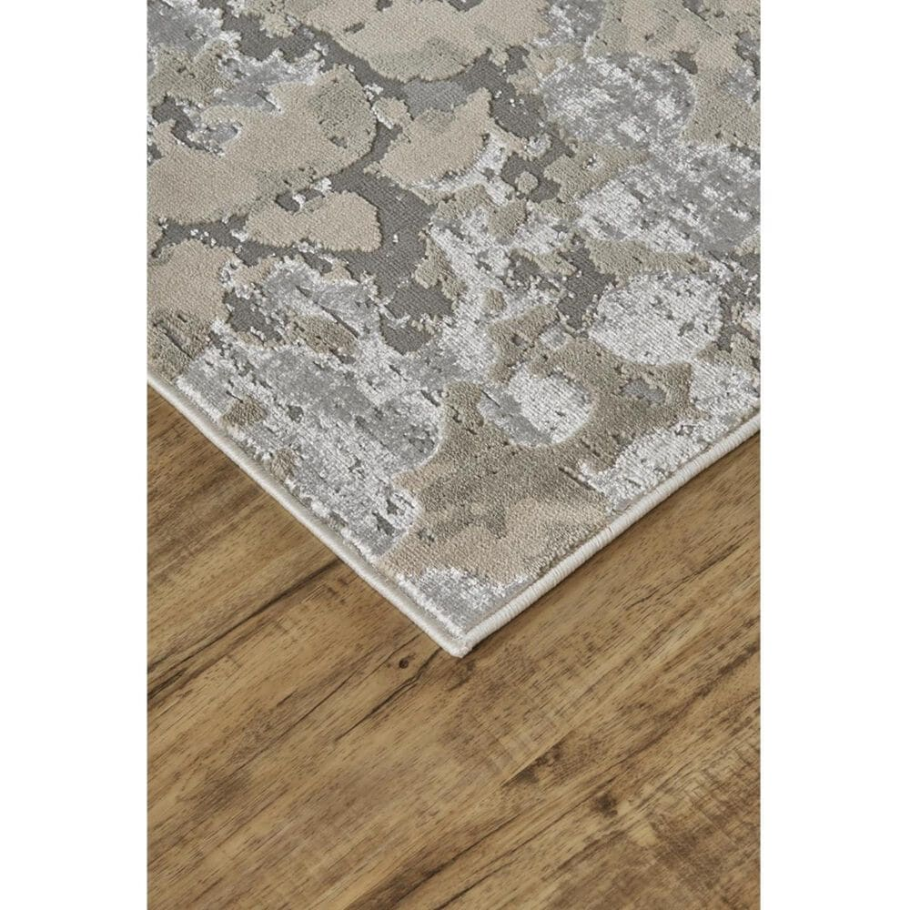 Feizy Rugs Micah 3336F 5' x 8' Silver and Gray Area Rug, , large
