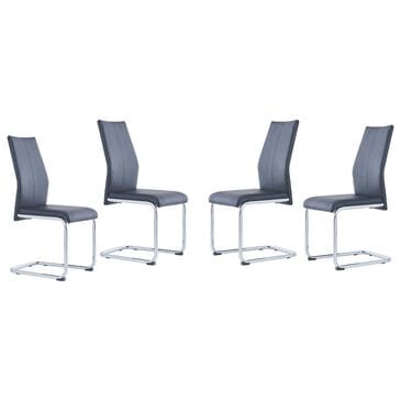 Global Furniture USA Dining Chair in Black (Set of 4), , large