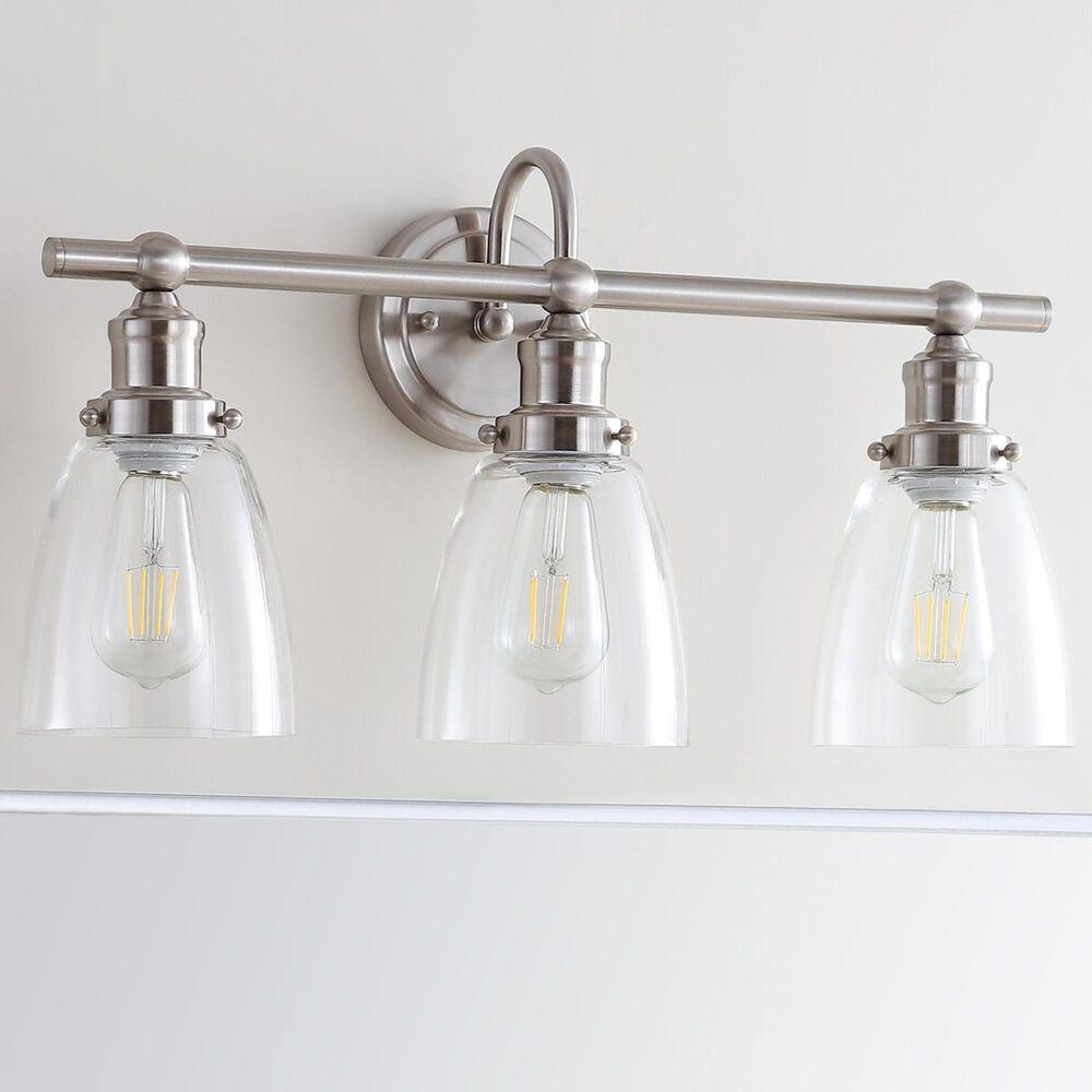 Safavieh Dunes 3-Light Bathroom Sconce in Brush Nickel/Clear, , large