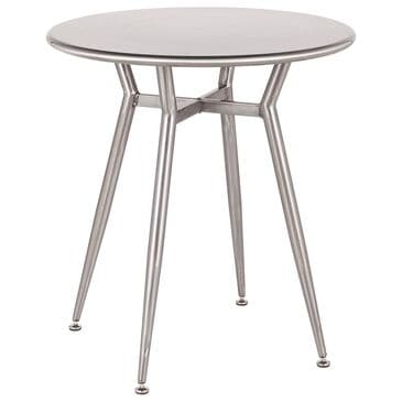 Lumisource Clara Dinette Table in Brushed Silver/Brushed Silver, , large