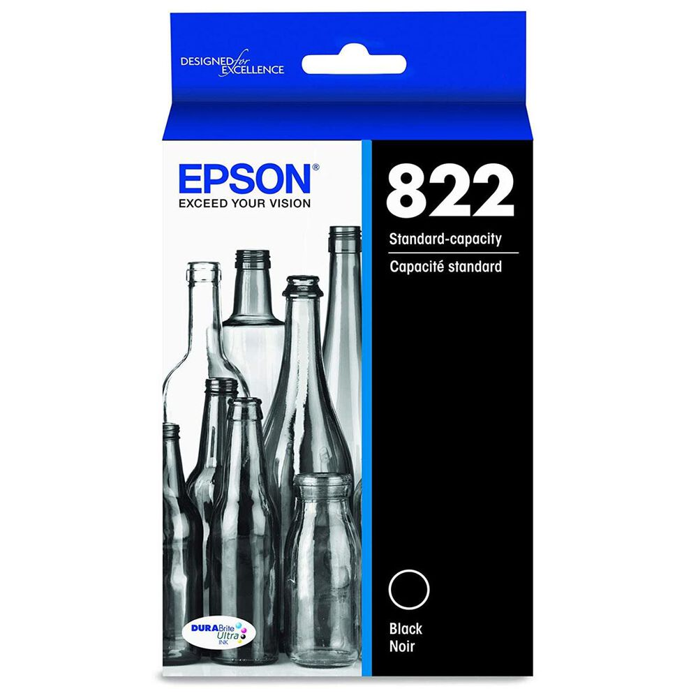 Epson T822 Standard Capacity Ink Cartridge in Black, , large