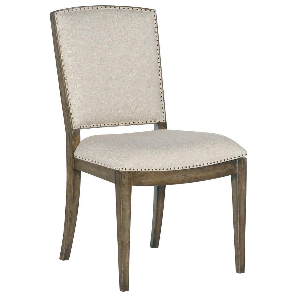 Hooker Furniture Sundance Carved Back Side Chair with Beige Cushion in Cliffside, , large