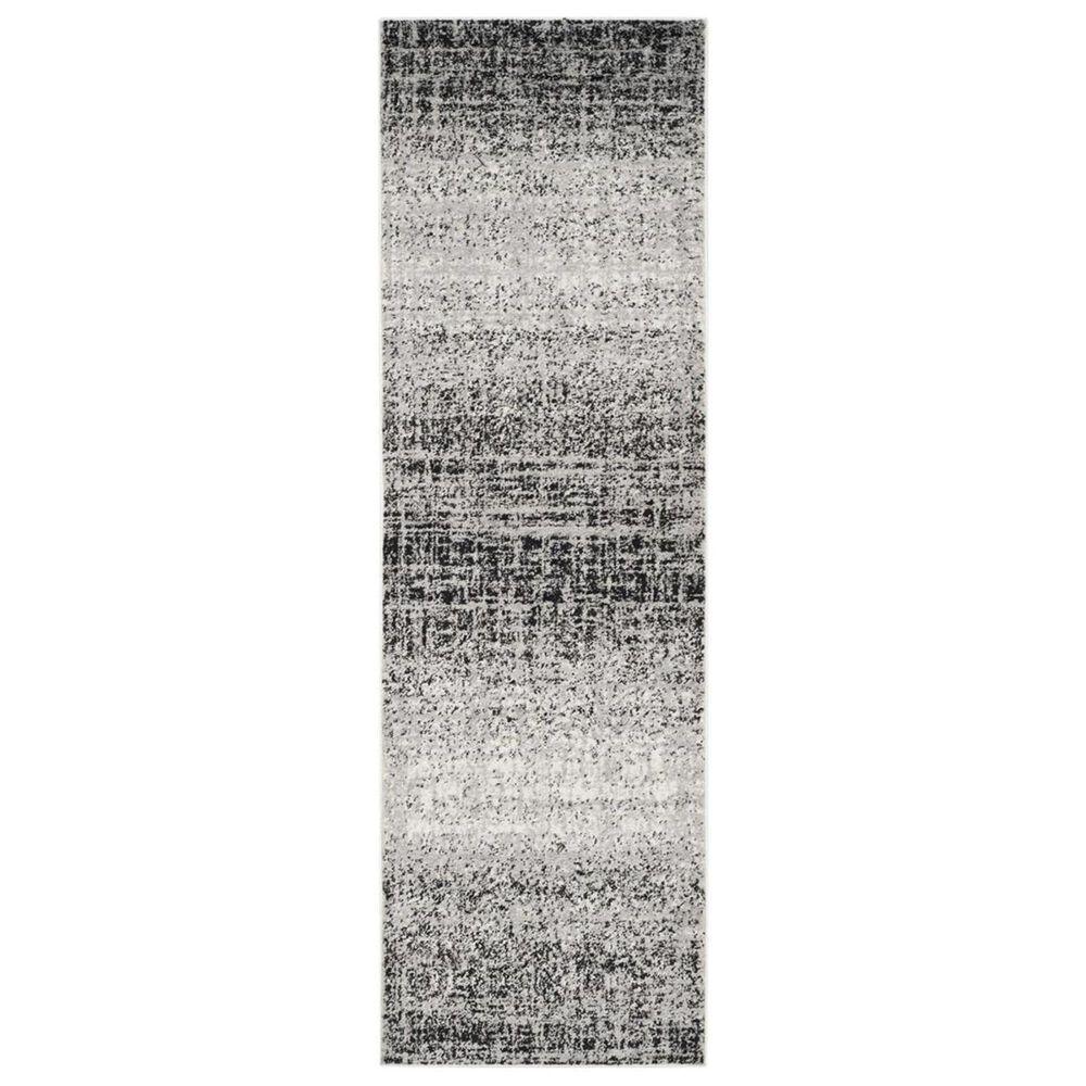 "Safavieh Adirondack ADR116A 2'6"" x 8' Silver and Black Runner, , large"