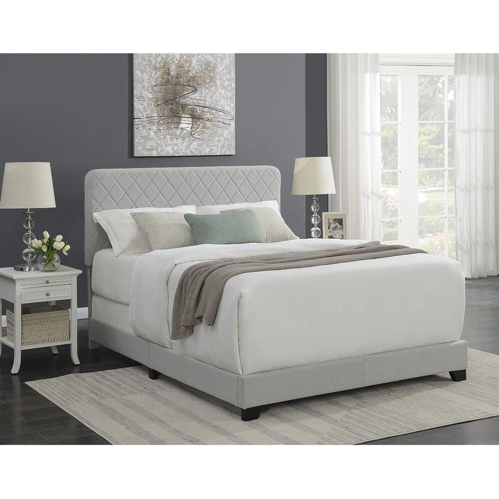 Accentric Approach Accentric Accents Benton Queen One Box Bed in Silver, , large