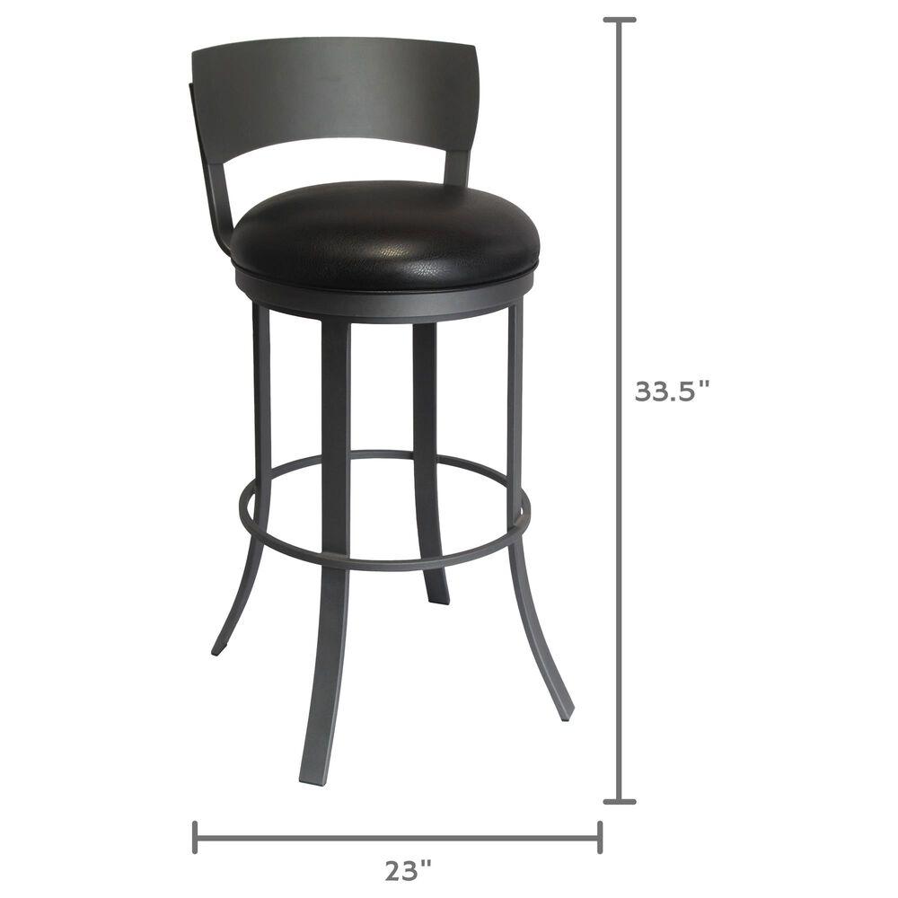 "Delaware Dining Bailey 26"" Swivel Barstool in Flintrock Grey/Black, , large"