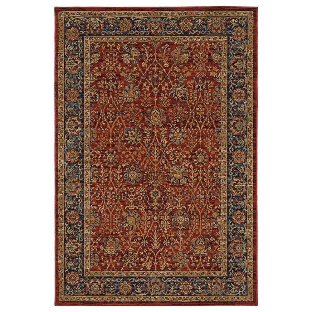 "Oriental Weavers Ankara Oriental 501R5 5'3"" x 7'6"" Red and Blue Area Rug, , large"