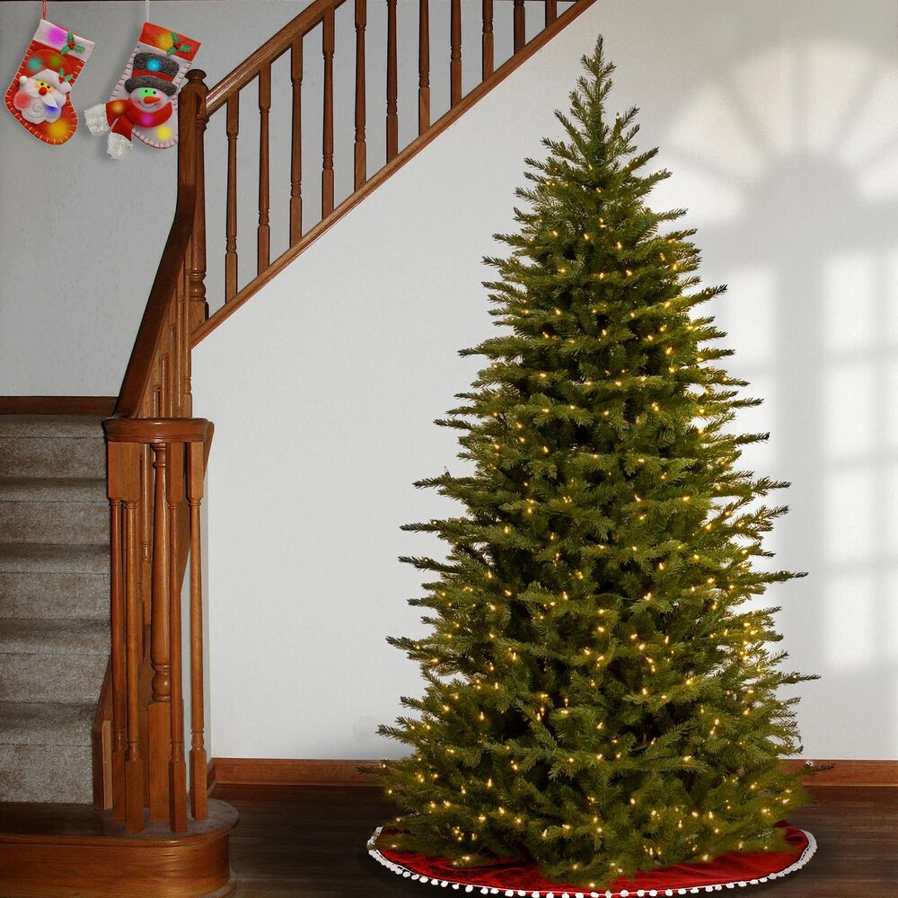 National Tree 9' Feel Real Nordic Spruce Medium Hinged Tree with Dual Color LED Lights + PowerConnect, , large