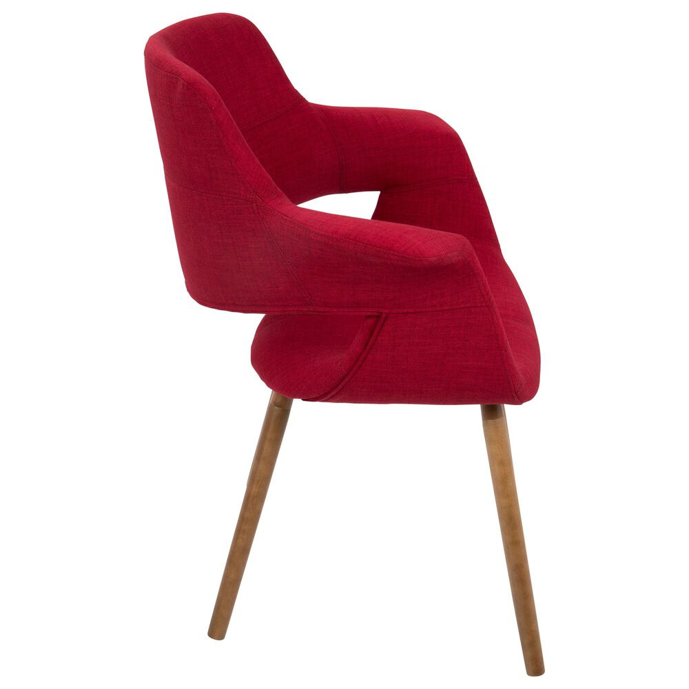 Lumisource Vintage Flair Chair in Red/Walnut, , large