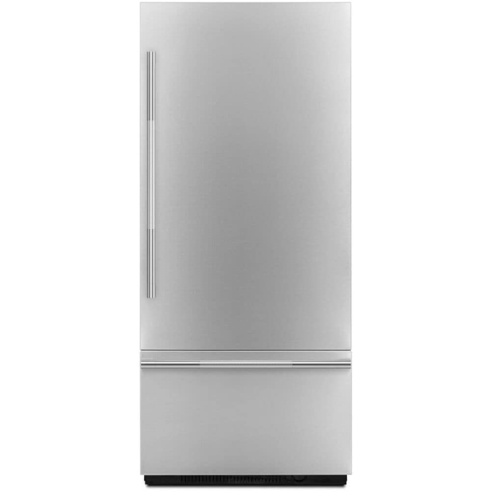 """Jenn-Air 36"""" Fully Integrated Built-In Bottom Freezer Door Panel Kit in Stainless Steel Left Hinge with RISE Handle , , large"""