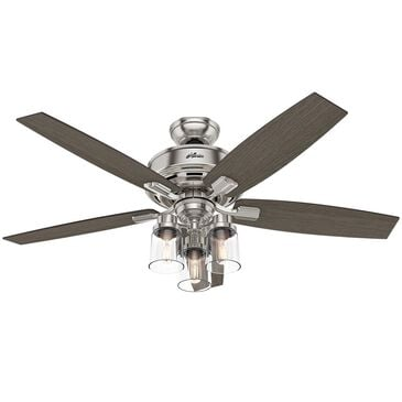 "Hunter Bennett 52"" Ceiling Fan in Brushed Nickel, , large"