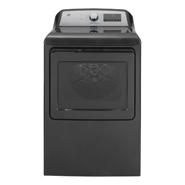 GE Appliances 7.4 Cu. Ft. Gas Dryer with Steam in Diamond Gray, , large