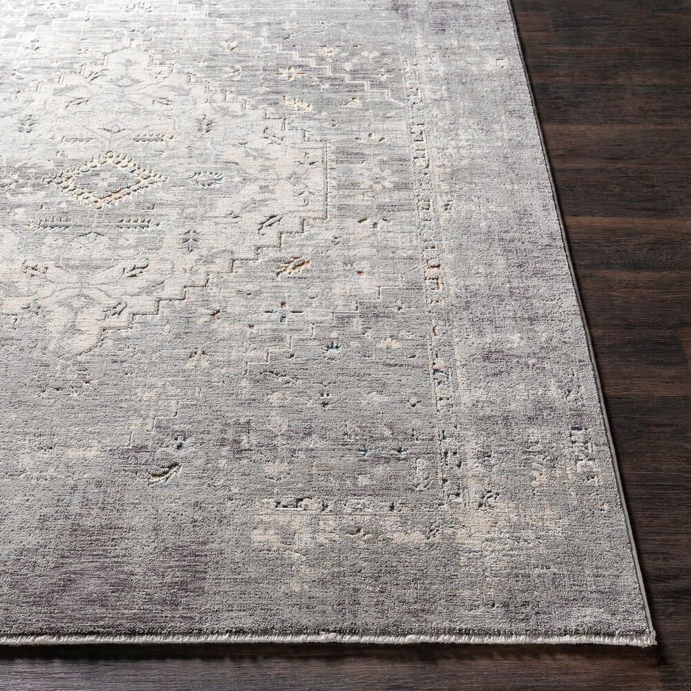 """Surya Presidential PDT-2311 7'9"""" x 10'3"""" Charcoal, Ivory, Blue and Orange Area Rug, , large"""