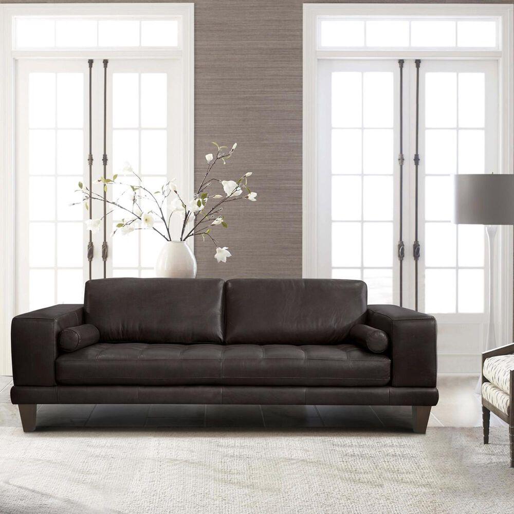 Blue River Wynne Leather Sofa in Espresso, , large