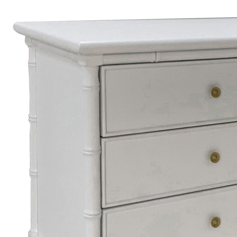 Safavieh Mina 6 Drawer Dresser in White/Gold, , large