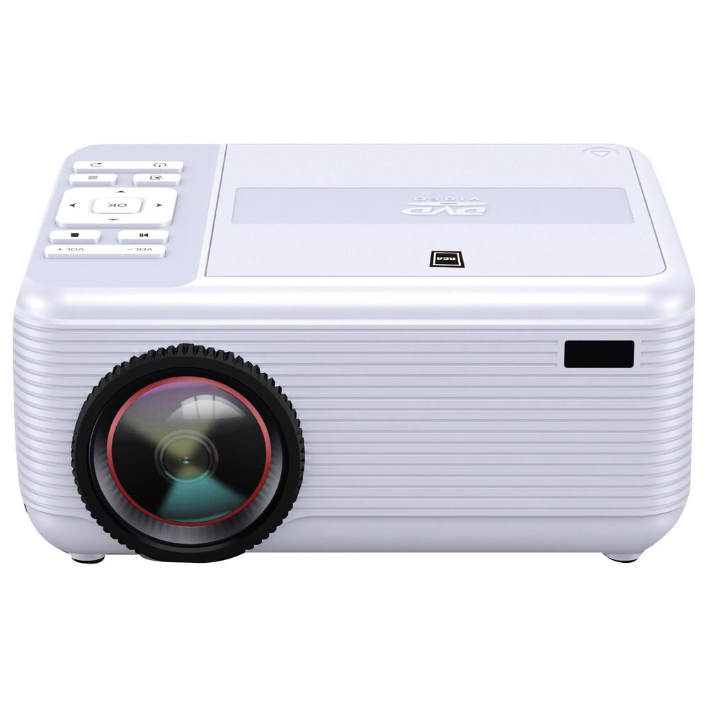 RCA Bluetooth DVD Player Home Theater Projector in White, , large