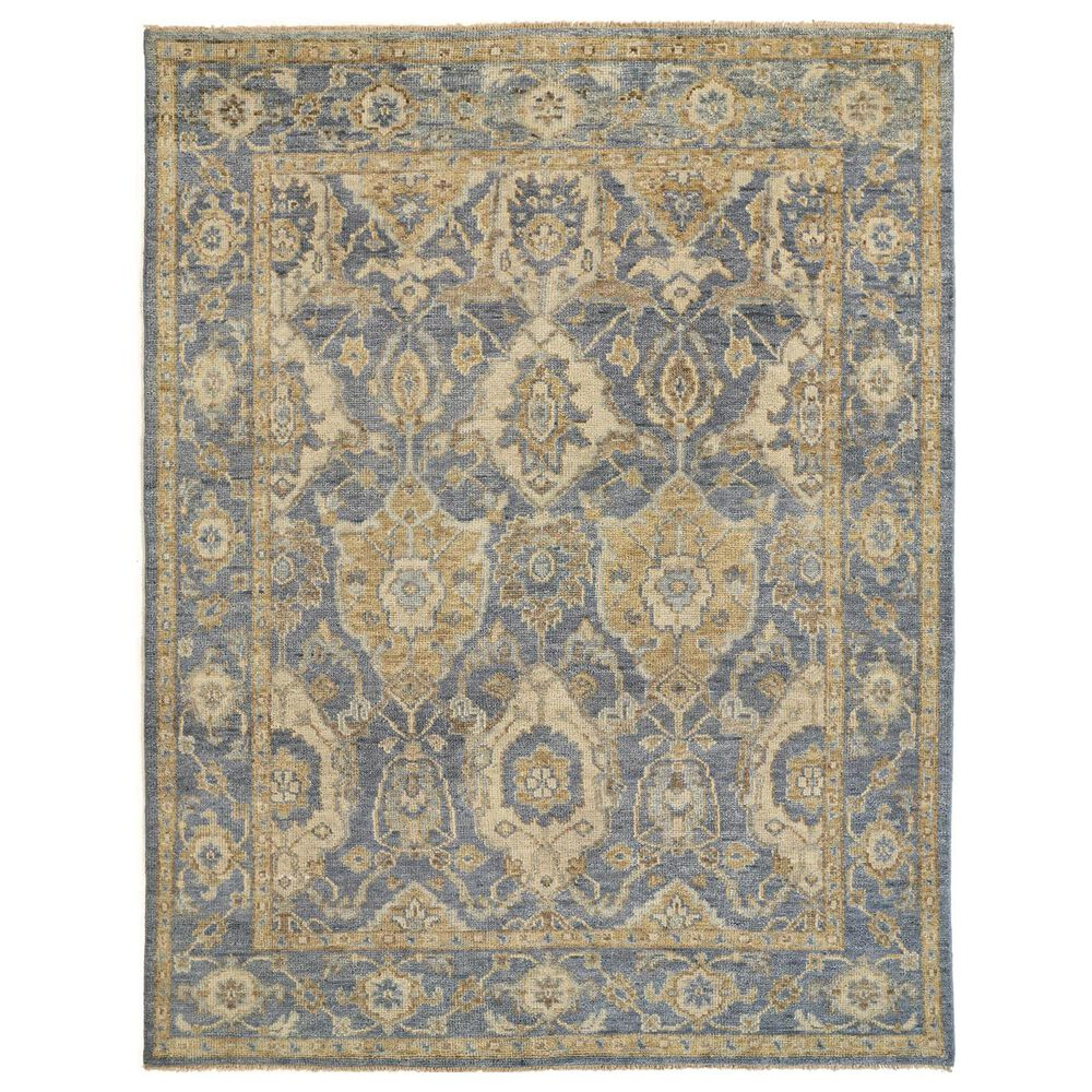 """Feizy Rugs Carrington 6502F 7""""9"""" x 9""""9"""" Light Blue and Beige Area Rug, , large"""