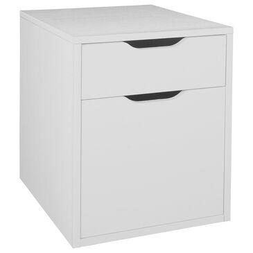 Regency Global Sourcing Niche Mod File Pedestal in White Wood, , large