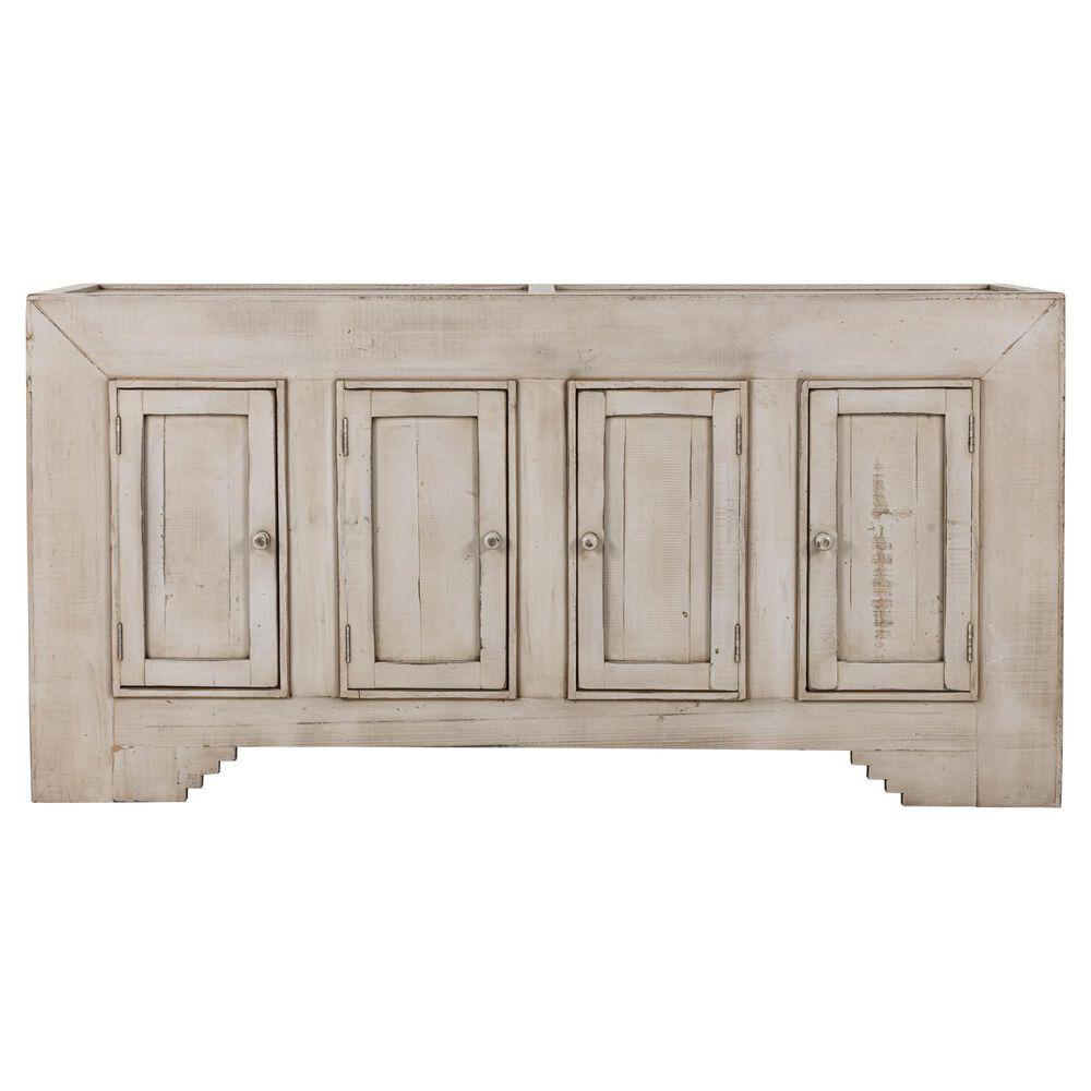 Santa Fe Rustic 4 Door Console in Light Grey, , large