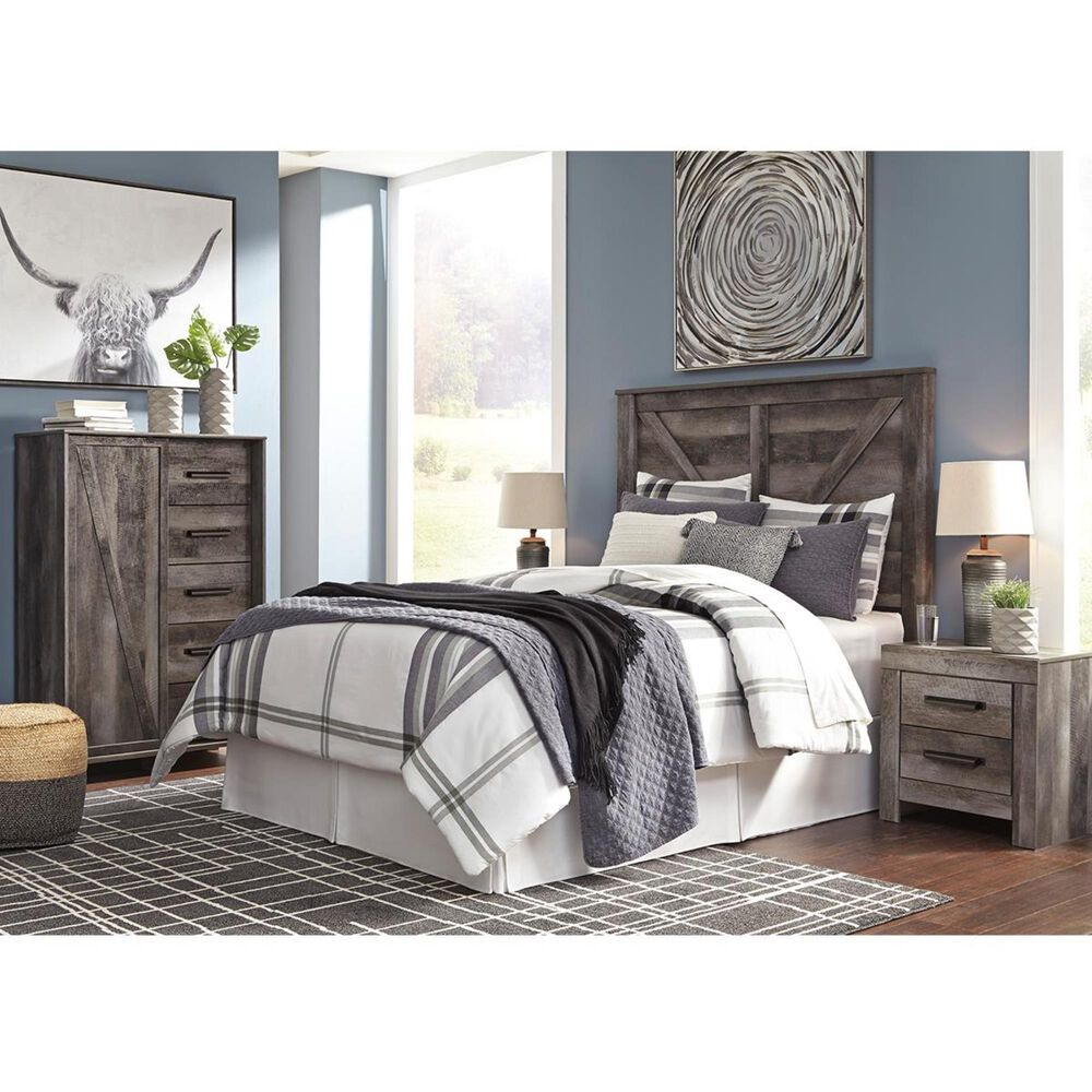 Signature Design by Ashley Wynnlow Queen Panel Headboard in Gray, , large