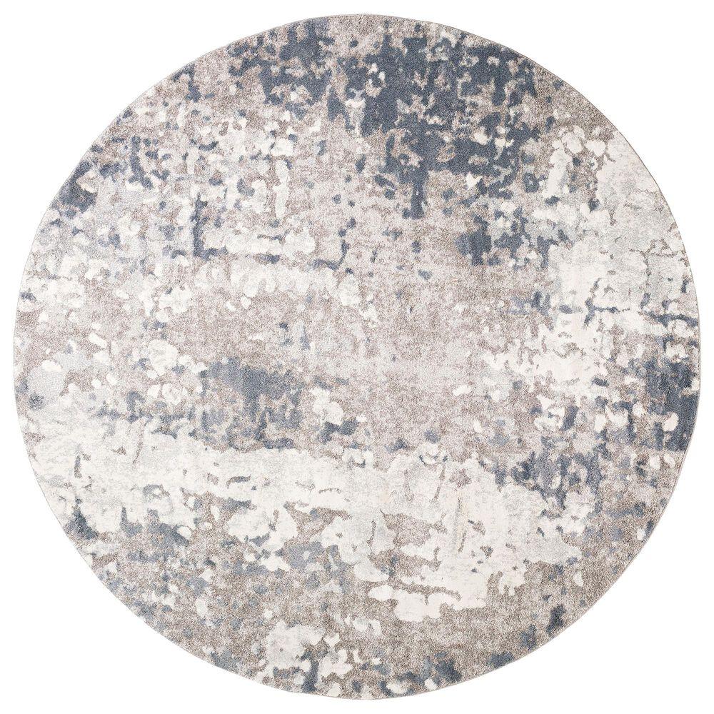"Surya Venice VNE-2304 7'9"" Round Denim, Blue and Ivory Area Rug, , large"