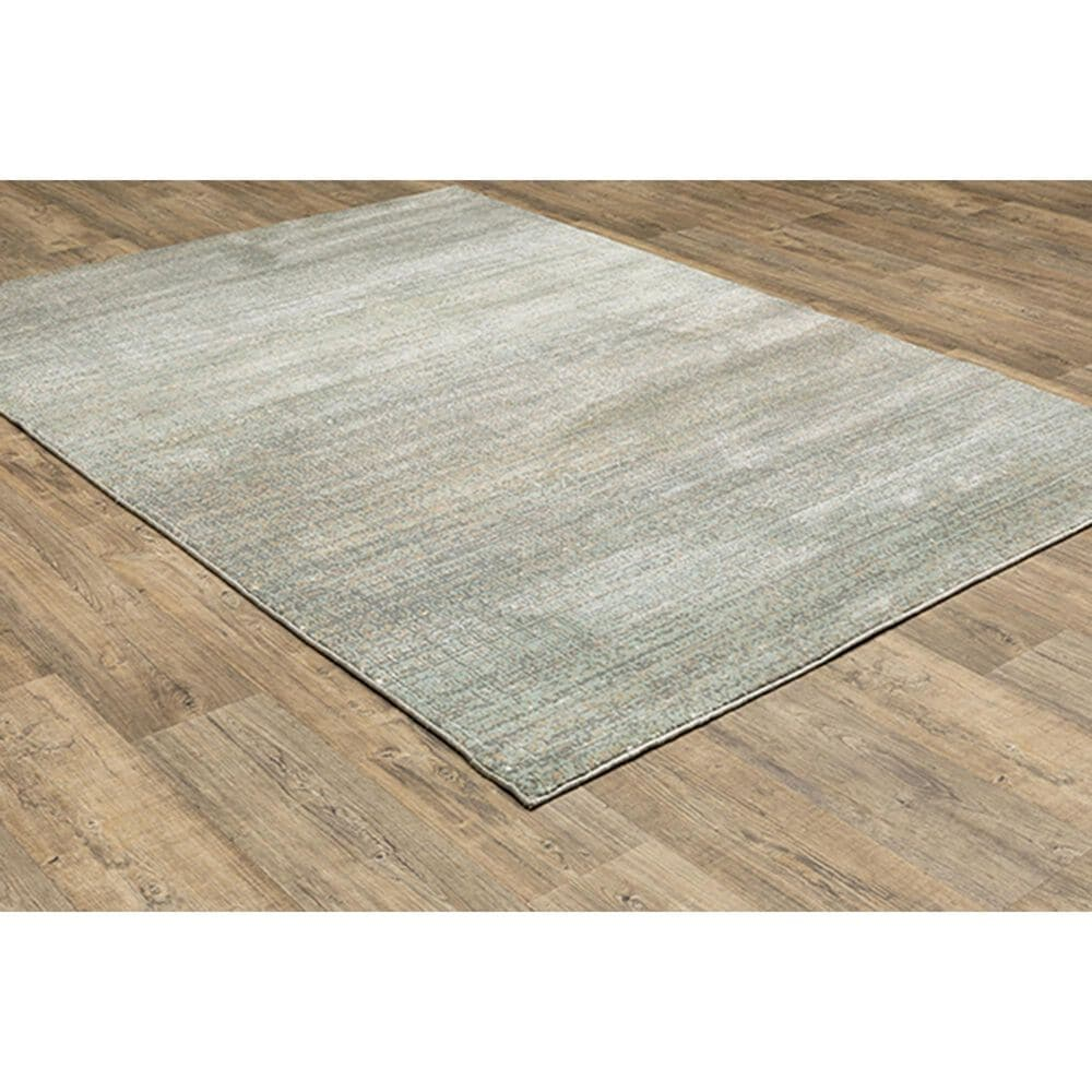 """Oriental Weavers Capistrano Distressed 524A1 3'10"""" x 5'5"""" Gray Area Rug, , large"""