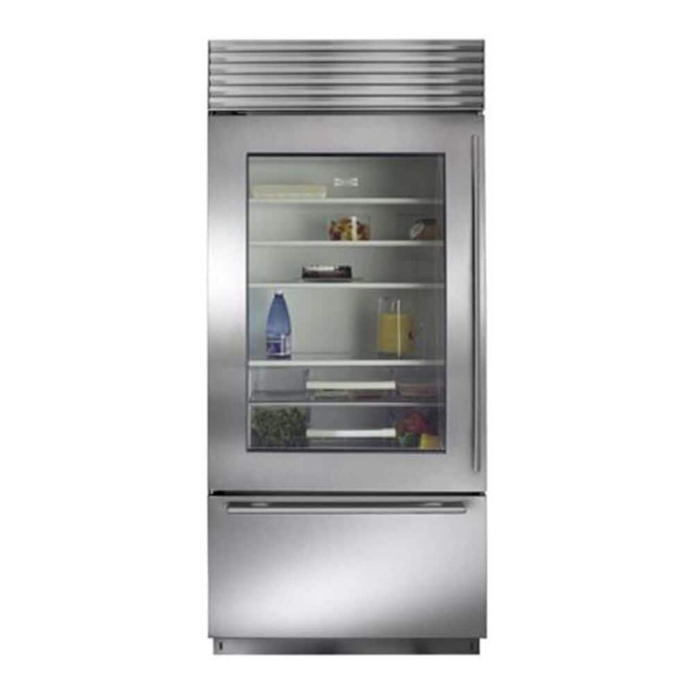 "Sub Zero 36"" Built-in Glass Door Refrigerator with Left Hinge (Panel Ready), , large"