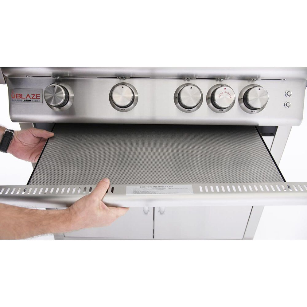 Blaze Flame Guard for Pro 3-Burner Gas Grills in Stainless Steel, , large