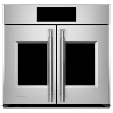 "Monogram Statement 30"" Smart French Door Electric Single Wall Oven in Stainless Steel, , large"