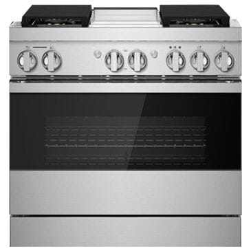 """Jenn-Air 36"""" Professional Range Dual Fuel in Black Glass and Stainless Steel, , large"""