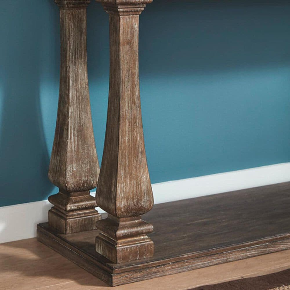 Signature Design by Ashley Johnelle Sofa Table in Weathered Gray, , large