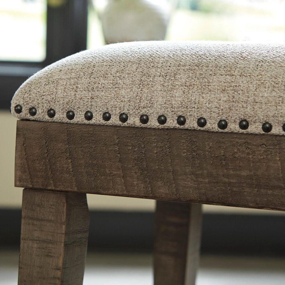 Signature Design by Ashley Wyndahl Upholstered Counter Height Stool in Rustic Brown, , large