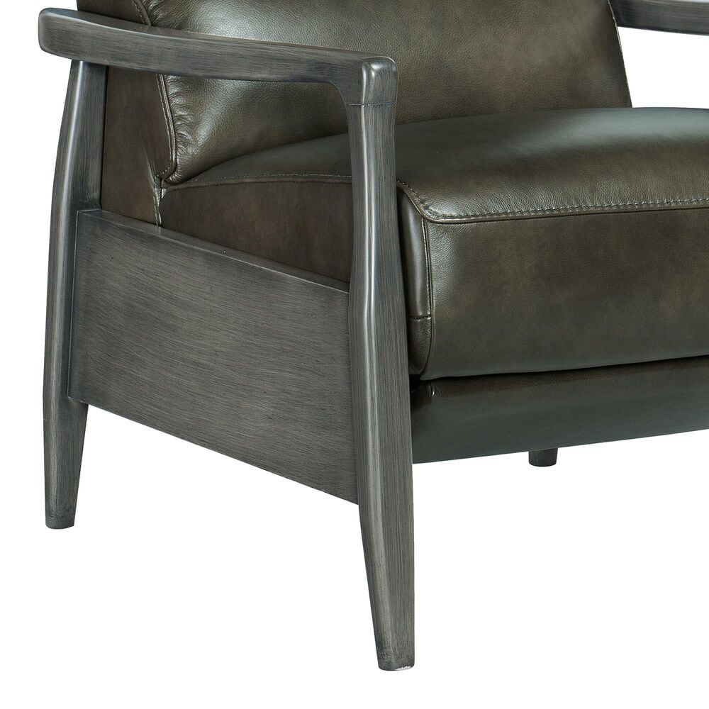 Hooker Furniture Marlin Pushback Leather Recliner in Grey, , large