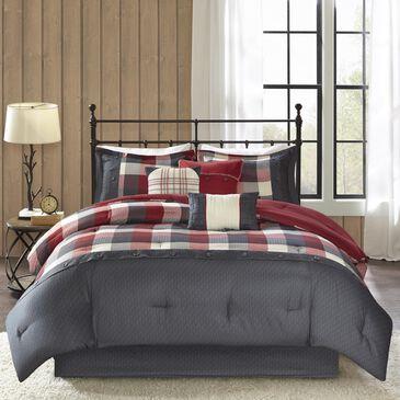 Hampton Park Ridge 7-Piece Queen Comforter Set in Red, , large
