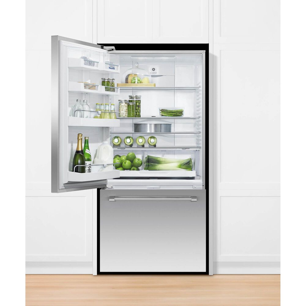 """Fisher and Paykel 32"""" Freestanding Bottom Freezer Refrigerator with Left Hinge in Stainless Steel, , large"""