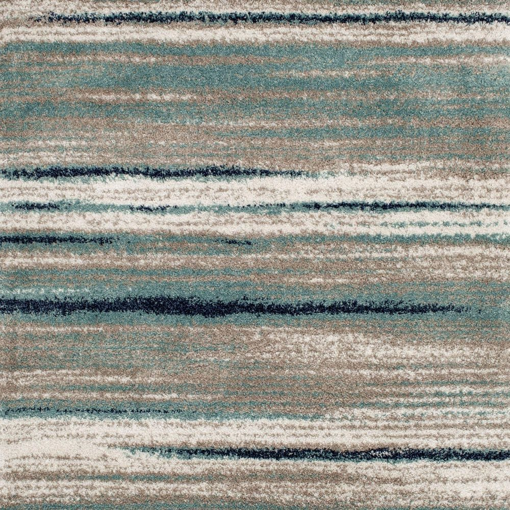 Central Oriental Tulsa Dunkerton 9862AN 5' x 7' Aqua and Blue Navy Area Rug, , large