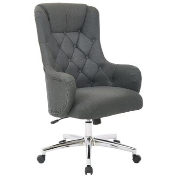 OSP Home Ariel Desk Chair in Charcoal, , large