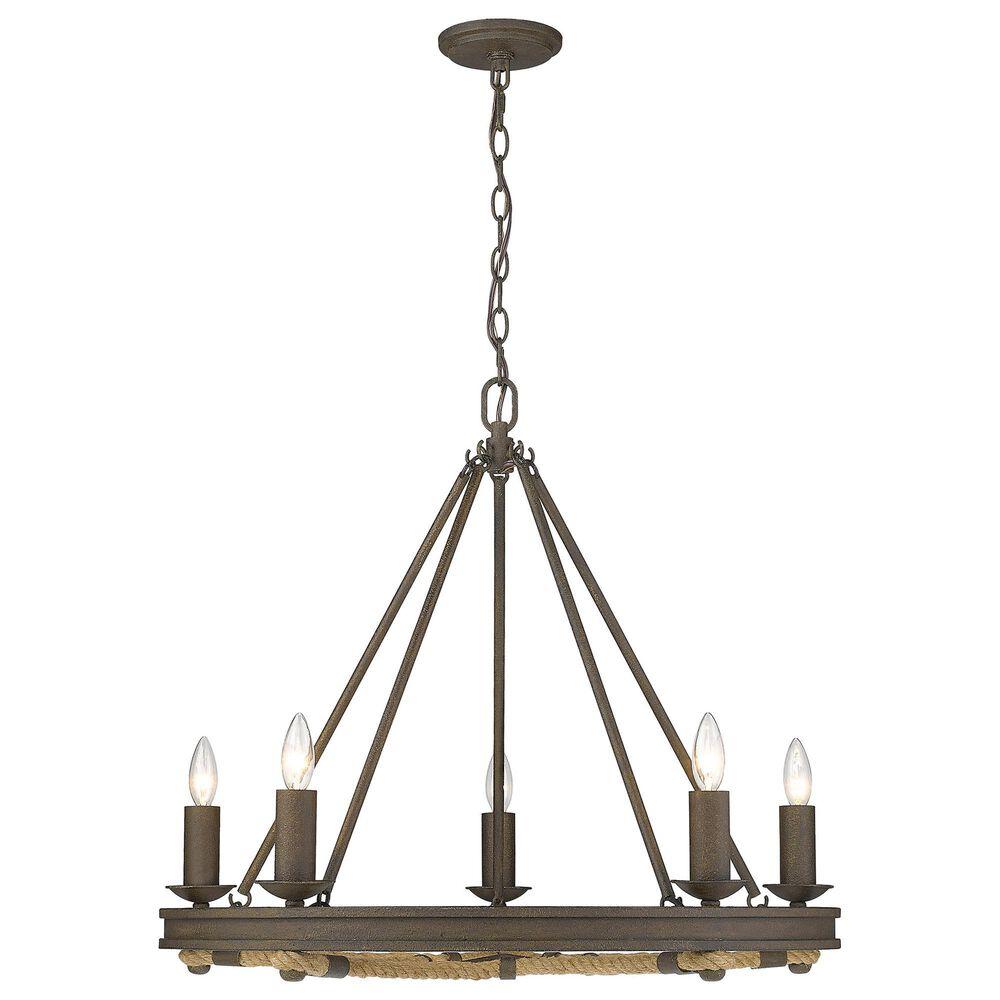 Golden Lighting Stokes 5-Light Chandelier in Dark Rust, , large