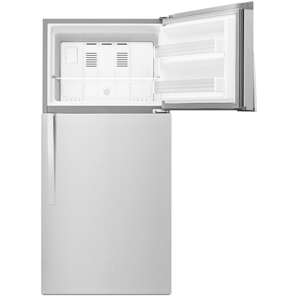 Whirlpool 19.2 Cu. Ft. Top Freezer Refrigerator with LED Interior Lighting in Monochromatic Stainless Steel , , large