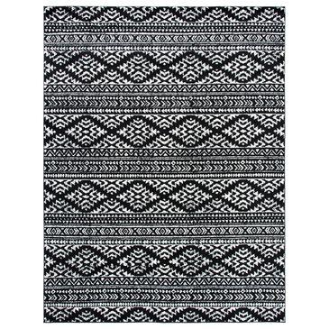 """Safavieh Tulum  9"""" x 12"""" Black and Ivory Area Rug, , large"""
