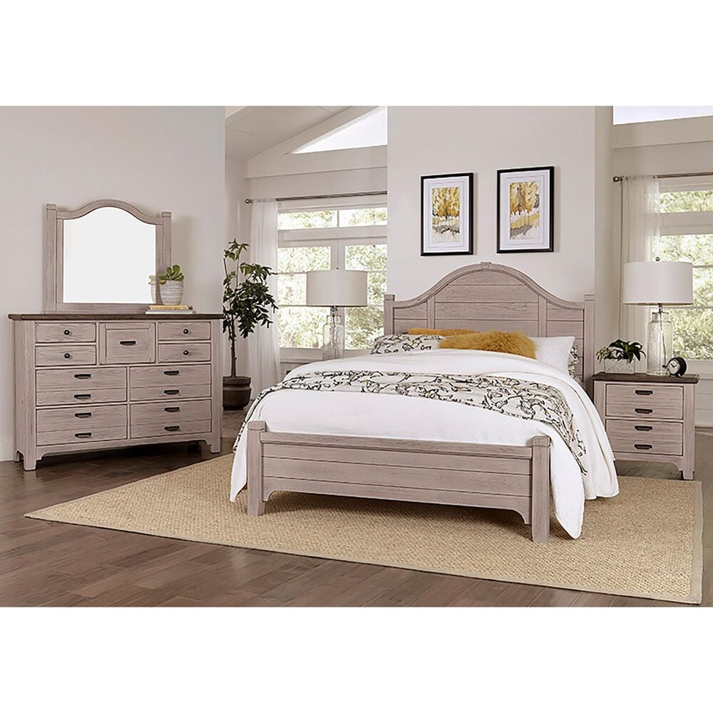 Viceray Collections Bungalow Queen Arch Bed in Dover Grey, , large