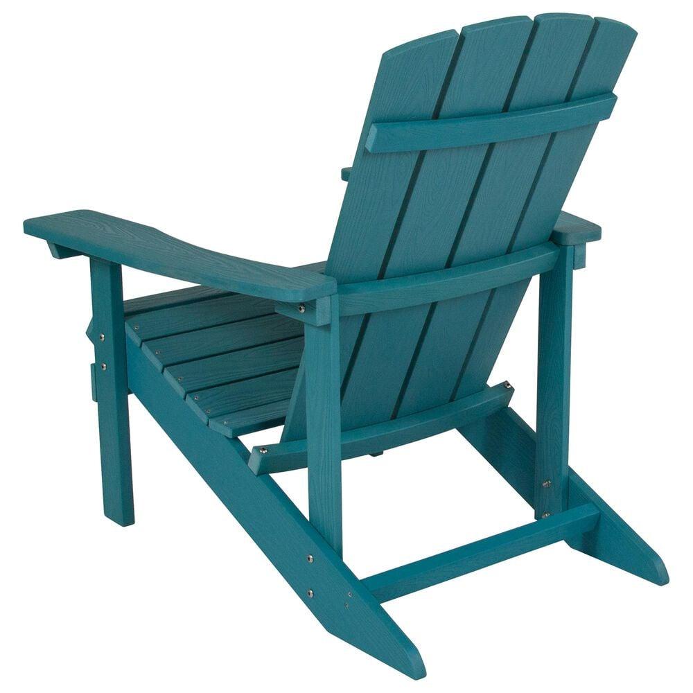 Flash Furniture Charlestown Adirondack Chair in Blue, , large