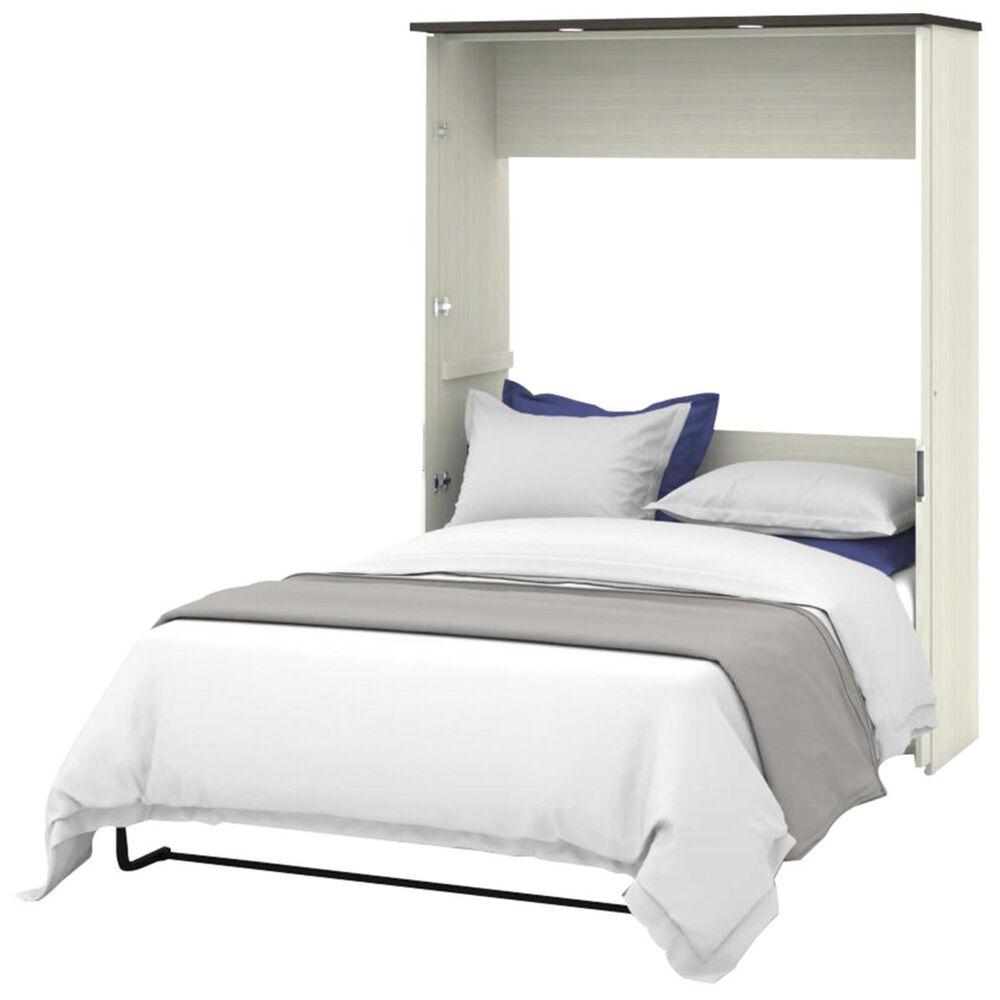 Bestar Lumina 3 Piece Full Wall Bed in White Chocolate & Dark Chocolate, , large