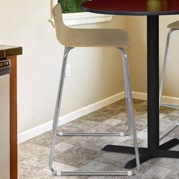 Regency Global Sourcing Ares High Stool in Natural/ Chrome, , large