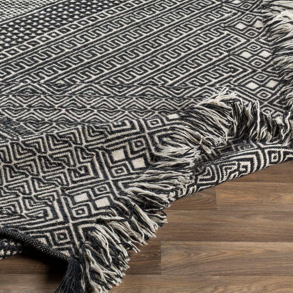 Surya Zanafi ZNF-2303 2' x 3' Black and Ivory Area Rug, , large