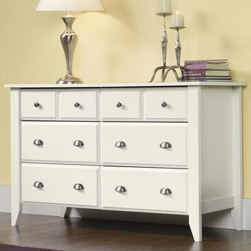 Sauder Shoal Creek 6 Drawer Dresser in White, , large