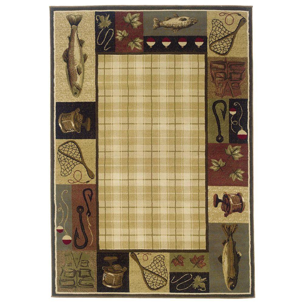 "Oriental Weavers Hudson 1065B 10"" x 13"" Beige Area Rug, , large"